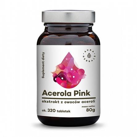Acerola Pink 25% - ekstrakt z owoców Malpighia Glabra - proszek 100g Aura Herbals