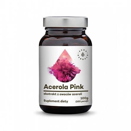 Acerola Pink 25% Malpighia Glabra - ekstrakt z owoców Aceroli - tabletki (80g) Aura Herbals