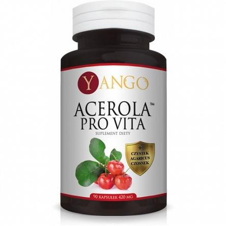 Acerola Pro Vita™ została stworzona z myślą o wzmocnieniu sił witalnych organizmu. Owoc aceroli, nazywany wiśnią z Barbadosu, to niezwykłe źródło witaminy C, która skutecznie wspomaga odporność.